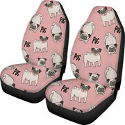 For U Designs Universal Front Car Seat Cover For Women Cute Animal Full Set Of 2