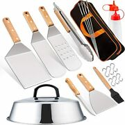 21 Pcs Griddle Accesories Set Outdoor Bbq Barbecue Grill Tool Kit