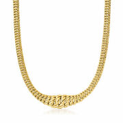 Italian 14kt Yellow Gold Graduated Americana-link Necklace