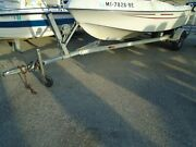 Used 2006 14and039-17and039 Magic Tilt Aluminum Boat Trailer Boat Trailer