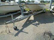 Used 2007 19and039-22and039 Sports Trail Aluminum Single Axle Torsion Axle Boat Trailer