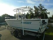 1989 Pursuit 25' Center Console Fishing Boat With Tandem Galv. Trailer