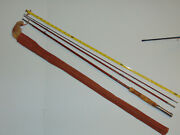 Antique South Bend Bamboo Fly Fishing Rod W/ Canvas Case 3pc 55c 9' Usa