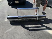 87-91 1987-1991 Ford Bronco Truck Front Bumper With Push Bar Cow Catcher Oem