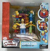 Mcfarlane Toys The Simpsons Deluxe Boxed Set Family Couch Gag Figure Set - New
