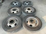 08 Sterling Dodge Ram 4500 Used Set Of 6 Dually Steel 19.5 Wheels W Tires Shiped