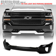 Front Primed Bumper Face Bar For 2016-2018 Silverado 1500 W/skid Plate Type