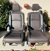 2021 Honda Odyssey Bucket Seats Pulled Out Mocha Leather -4 Pieces
