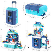 Us Kids Children Doctor Nurses Toy Medical Kit Set Role Play Travel Trolley Toy