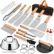 Grill Tool Kit 20 Pcs Griddle Accesories Set Outdoor Bbq Barbecue Kit