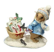 Mouse Tales Of Christmas Enesco Figurine I'll Be Home For Christmas Preowned