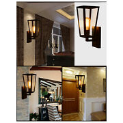 Vintage Industrial Glass Wall Lamp Sconce Light Wall Fixture Hallway Porch Yard