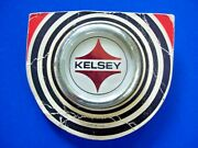 Vintage Chrome Kelsey Hayes Nos New Wheel Center Hubcap With Emblem Ornament One
