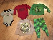 Boys Size 12-18 Months Clothes Lot Of 5timberland,john Deere, And Moreec