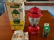 Vintage Coleman Lantern Model 200a With Box - Camping Gear