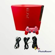 Playstation 3 Ps3 Console 320gb Scarlet Red Game Japan Cech-3000bsr Used