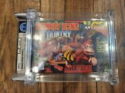 Donkey Kong Country Snes 1994 1st Print Wata 9.4 A++ Sealed - Holy Grail