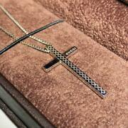 Discontinued Rare K18wg Cross Necklace _52204