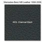 Mercedes 208 1998-2003, Seat Rr Set, Leather, 463l Charcoal, Coupe