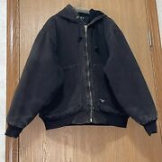 Vintage Walls Work Coat Insulated Mens Size Large Tall Black Has Flaws E1350