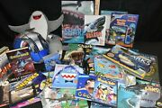 Huge Incredible Shark Week Lot Plushes 3d Books And Glasses Toys Dvds