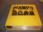 A Treasure 24 Lionel Vintage Catalogs. Yrs '51-'65, '74-'80 In Official Binder