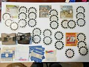Vintage View-master Lot Includes 2 Sawyer's Viewers And 27 Slides 3d