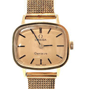 Omega Watches Geneva Vintage Hand Winding Stainless Steel Gold Women