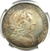 1716 Britain England George I Crown Plumes And Roses Coin. Certified Ngc Au Detail