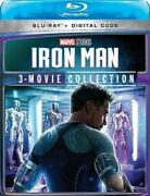Iron Man 3-movie Collection [blu-ray] Dvd, Ben Kingsley,guy Pearce,mickey Rourke
