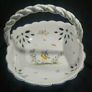 Vintage Serrailler Andaacute Moustiers French Pottery Basket