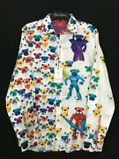 Robert Graham Robot Bulldogs Origami Large Limited Edition 398 Nwt Classic Fit