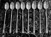 8 Iced Tea Spoons 7 3/8 Long Orchid By International Sterling Silver Excellent