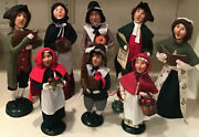 Byers' Choice Pilgrims Williamsburg Fall And Thanksgiving Carolers Figures