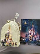 Walt Disney World 50th Anniversary Lounge Fly Castle Bag And Commemorative Poster