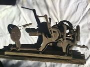 Lrg Antique Cast Iron 103 Champion Blower And Forge Co Hand Crank Wall Drill Press