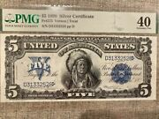 1899 Indian Chief Note 5 Silver Certificate