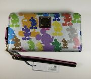 Dooney And Bourke Disney Silver Wonder Mickey Silhouettes Wallet Mouse Nwt 2019