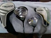 Ladies Taylormade Superfast Ht Driver And Burner 5 Wood-rh-w/covers-free Shipping