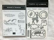 Stampin Up Wishes And Wonder-cling Stamp Set And North Pole Wonder Dies-new