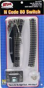 Atlas 2701 Right Remote Standard Switch Track - Code 80 Rails - N Scale