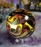 Awesome One😎 1.93 New Gold Lutz Flame -new Contemporary Art Glass Marbles