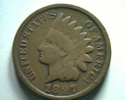 1897 9/9 Not Listed Super Clear Indian Cent Penny Very Good Vg Nice Original