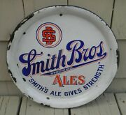 Vintage Pre-pro Smith Bros Brother Beer Porcelain Tray New Bedford Massachusetts