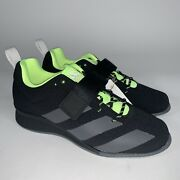 Adidas Adipower 2 Weightlifting Shoes Black Green Menandrsquos Size 9 New Gz2859