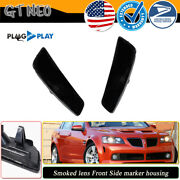 2x For 08 09 Pontiac G8 Gt Gxp Black Smoked Front Bumper Side Marker Housing Kit