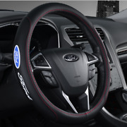 For All Ford Cars New Faux Leather Black 15 Diameter Car Steering Wheel Cover