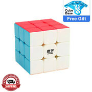 3x3x3 Ultra-smooth Spring Speed Magic Rubiks Cube 3x3 Puzzle White Xmas Gift Toy