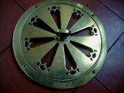 Fabulous Antique Victorian Large Decorative Brass Hit And Miss Air Vent