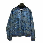 Christian Dior Bomber Jacket 20aw Camouflage Pattern 017c14a2960 34 Navy _65479